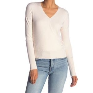 NWT Elodie Ribbed Faux Wrap Sweater
